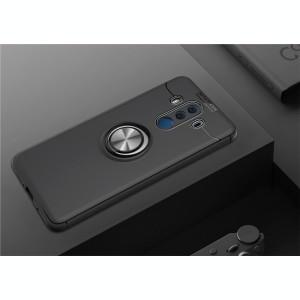 Husa Spate Silicon Premium Iring Metalic Upzz Huawei Mate 10 Lite Cu Ring Metalic Pe Spate Negru