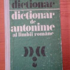 DICTIONAR DE ANTONIME AL LIMBII ROMANE-MARIN BUCA SI ONOFRIE VINTELER.