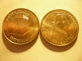 2 Medalii Suvenir -Napoleon ,bronz aurit ,d=3,4cm