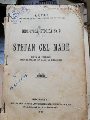 I. URSU - STEFAN CEL MARE 1925 foto