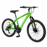 Bicicleta MTB-HT Saiguani 24 inch Velors Poseidon CSV2409A verdealbnegru