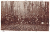 4843 - ORADEA, Hunting, Vanatoare Romania - old postcard real PHOTO - used  1913, Circulata, Printata