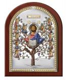 Icoana Argint Pomul Vietii cu Auriu Color 17.5X22.5cm Cod Produs 2557