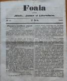 Foaia pentru minte , inima si literatura , nr. 11 , 1863 , Brasov , I. Vulcan