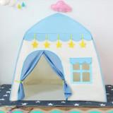 Cort de joaca pentru copii,casuta, cu lumini, albastru