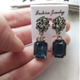 Cercei Eleganti Cristal Albastru 35C11C528