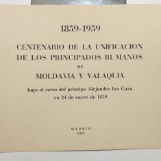 ROMANIA EXIL 1959 - CARNET FILATELIC MISCAREA LEGIONARA - CENTENAR PRINCIPATE