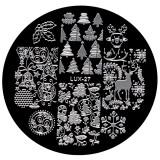 Cumpara ieftin Matrita Metalica Stampila Unghii LUX-27 - Winter's Tale