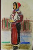 Tablou pictura Eva Cerbu - Port popular
