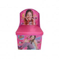 2 in 1 Cutie pentru depozitarea jucariilor si scaunel Soy Luna Disney 402506R, Roz