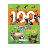 Carte Editura Girasol, 100 de animale de la ferma