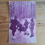 """Cartolina """"La mulți ani"""" circulata Romania 1934/35"""