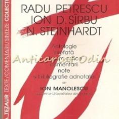 Literatura Memorialistica. Radu Petrescu, Ion D. Sirbu, N. Steinhardt