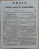 Ziarul Foaia pentru minte , inima si literatura , nr. 44 , 1853
