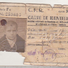 bnk  div CFR - carte de identitate ptr calatorii ... 1941