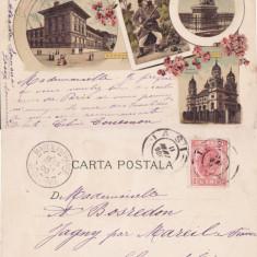 Salutari din Iasi- Mitropolia- litografie 1900