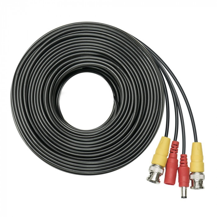 Resigilat : Cablu video si alimentare PNI CCTV 20M pentru camera de supraveghere 2