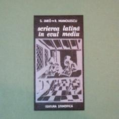 SCRIEREA LATINA IN EVUL MEDIU de S. JAKO, R. MANOLESCU 1971, LIPSA PLANSE