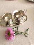 Set Zaharnita Letiera Lingurita Tavita - Art Deco - Argintate