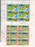 N Zealanda    Michel  562 -  563   serie in bloc C rosu 2, Nestampilat
