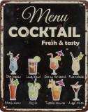 Tablou din metal cu cocktailuri NV-50, Ornamentale