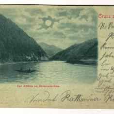 SV * Romania  PASUL TURNU ROSU  *  Valea Oltului   1899  (intre Sibiu si Valcea), Ramnicu Valcea, Circulata, Fotografie, Printata