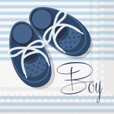 20 Servetele botez baiat 33x33cm Botosei Baby Boy