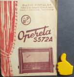 Instructiuni folosire Radio Popular Opereta S 572 A + Schema de principiu