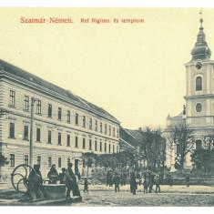 4743 - SATU-MARE, Maramures, Market, Romania - old postcard - unused, Necirculata, Printata