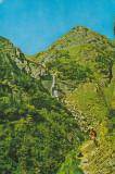 Bucegi - Cascada din Valea Jepilor ,, Necirculata, Printata