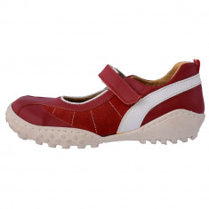 Pantofi copii, din piele naturala, Viva Bimba, 4R-5, rosu
