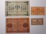 BANCNOTE RUSIA TARISTA- 1COPEICA 1915 -50 COP 1919 -100 RUBLE 1918 -250 RUB 1918
