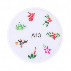 Stampila pentru unghii MMM3-A13, model floral