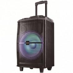 Boxa portabila akai abts-h12l 40w microfon wireless bluetooth radio fm karaoke usb lumini disco