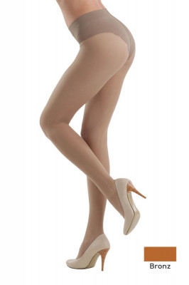 Ciorap Modelator cu Chilot Dantelat Style 20 Den - Bronz, 3-M Standard foto