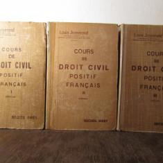 COURS DE DROIT POSITIF FRANCAIS-L.JOSSERAND 3 VOLUME