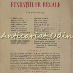Revista Fundatiilor Regale Octombrie 1934 - Z. Paclisanu, Aron Cotrus