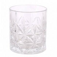 Pahar din sticla pentru whisky model Thira, 350 cc