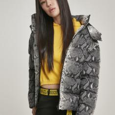 Ladies AOP Hooded Puffer Jacket