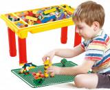 MASA COMPATIBILA LEGO, 48X28X27 CM, 200 DE BLOCURI DE CONSTRUIT