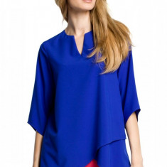 Bluza lejera cu aspect petrecut, albastra, 2XL, L, M, S, XL, Albastru