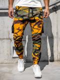 Pantaloni trening bărbați verde-portocaliu Bolf 0705
