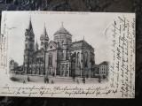 Carte postala clasica Timisoara, circ. Timisoara-Brasov 1901, pperfecta, Circulata, Printata