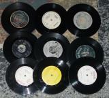 """Vinyl/vinil discuri mici,decor single 7"""",ornament,pictat ceas 2 lei buc sau 5lei"""