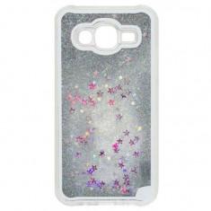 Husa Carcasa Liquid Glitter Argintie Pentru Samsung Galaxy S7