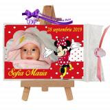 Marturii botez magneti Handmade by Diana Puiu Minnie Mouse MDFM 15