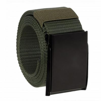Curea centura Pufo Army Style pentru barbati 3,8 x 120 cm, reglabila, verde foto