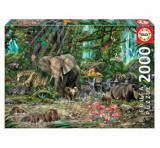 Cumpara ieftin Puzzle African jungle, 2000 piese, Educa