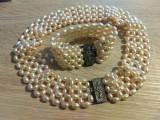 Colier+brățară din perle naturale