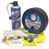 Kit reparatie pana roata Streetwize, Compresor aer 12V, Spray raparat pana 450ml, Vesta, Manusi, Servetele,